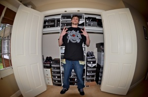 MIKE SMALL OUT FROM CALI WEARING THE ELEPHANT CURSIVE TEE