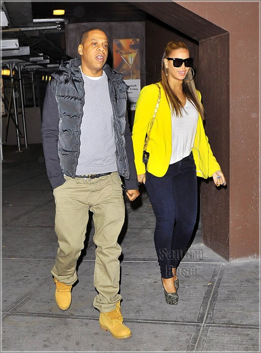 EXCLUSIVE: Beyonce and Jay Z Make Their First Public Appearance Together While Heading To The Knicks/Nets Basketball Game At Madison Square Garden In NYC