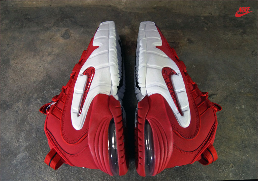 sale retailer 0f21f cf5c1 These are the latest images of the Nike Air Penny in a majority Red upper  with the White mid-sole with the Iconic Nike logo on the side in a clear  plastic ...
