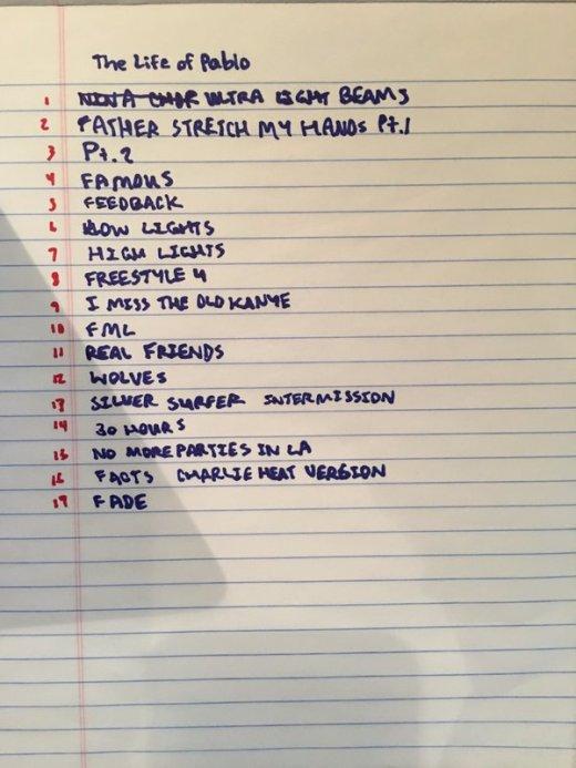 kanye-tracklist