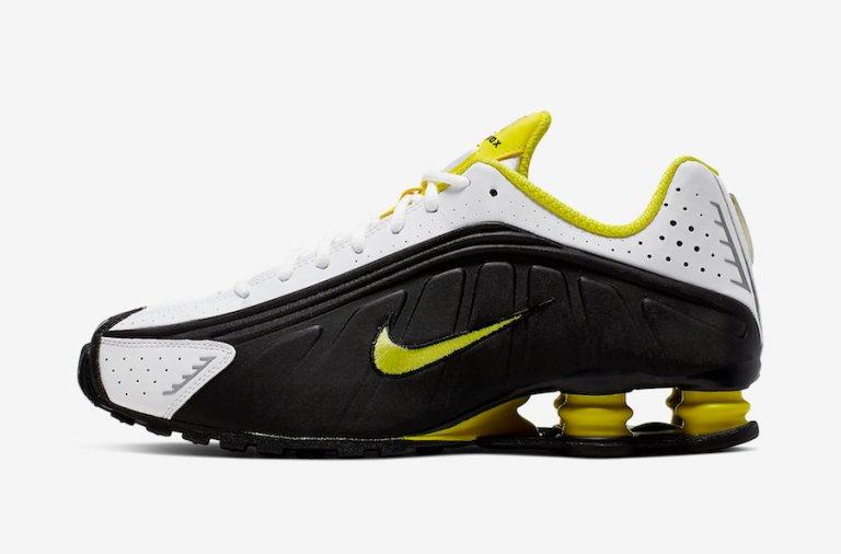 Nike-Shox-R4-Black-Dynamic-Yellow-104265-048-Release-Date