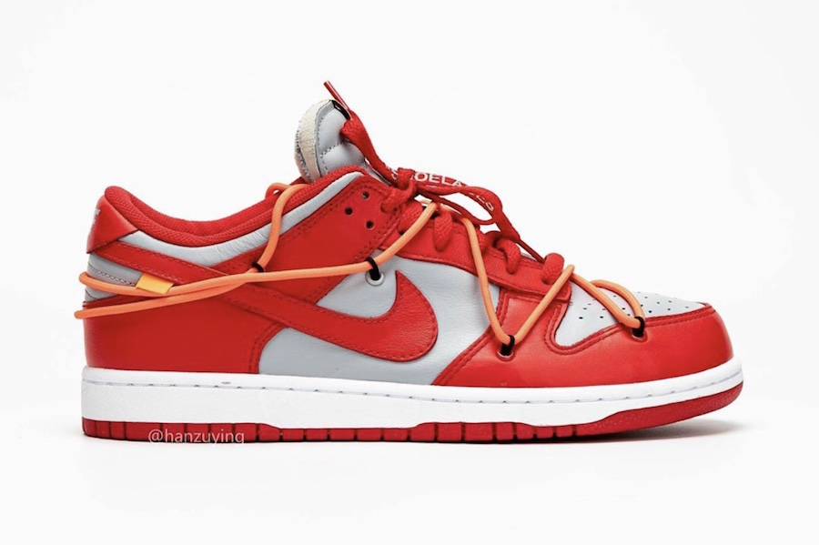 Off-White-Nike-Dunk-Low-Univeristy-Red-Wolf-Grey-CT0856-600-2019-Release-Date-2