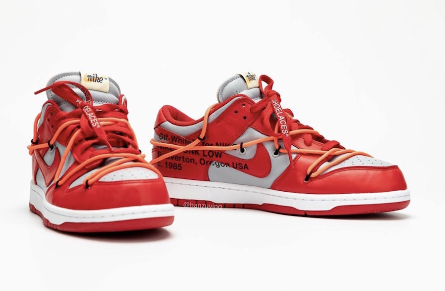 Off-White-Nike-Dunk-Low-Univeristy-Red-Wolf-Grey-CT0856-600-2019-Release-Date-3