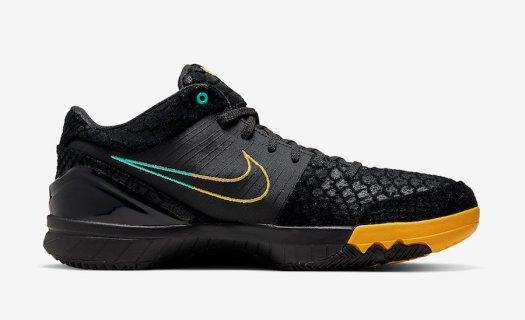 Nike-Zoom-Kobe-4-Protro-Black-Snake-Aurora-Green-University-Gold-AV6339-002-Release-Date-2