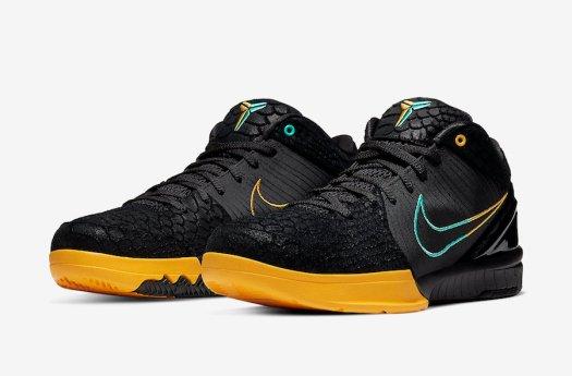 Nike-Zoom-Kobe-4-Protro-Black-Snake-Aurora-Green-University-Gold-AV6339-002-Release-Date-4