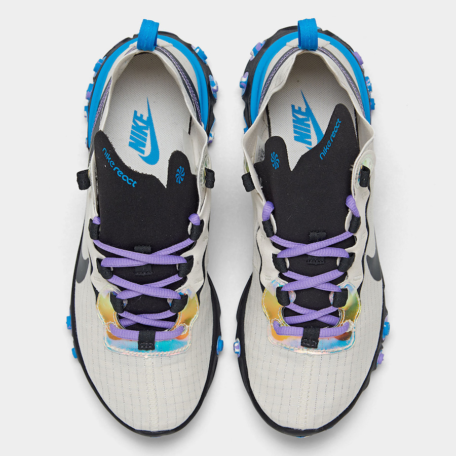 Nike-React-Element-55-Off-Noir-Blue-Hero-Amethyst-Tint-CT1612-001-Release-Date-2