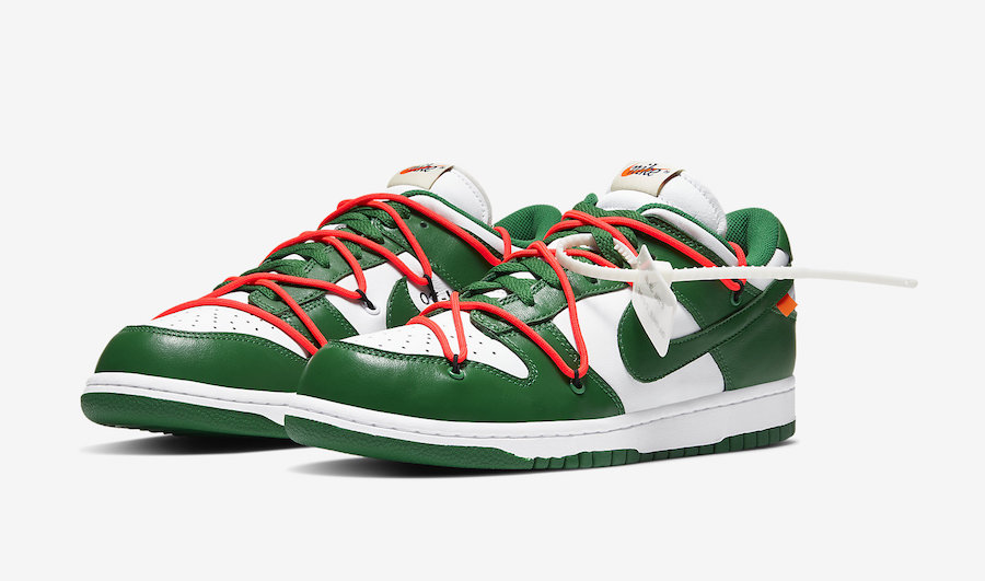 Off-White-Nike-Dunk-Low-White-Green-CT0856-100-Release-Date