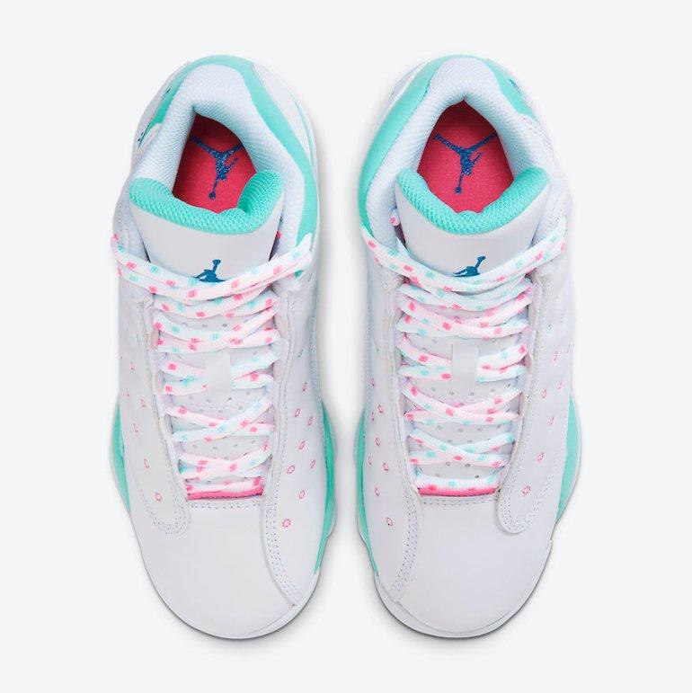 Air-Jordan-13-GS-Aurora-Green-Digital-Pink-Release-Date-439358-100-3