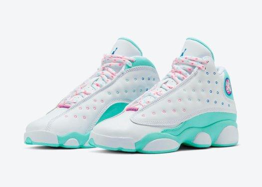 Air-Jordan-13-GS-Aurora-Green-Digital-Pink-Release-Date-439358-100-4