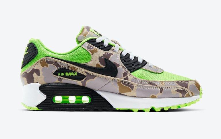 Nike-Air-Max-90-Ghost-Gren-Volt-Duck-Camo-CW4039-300-Release-Date-2