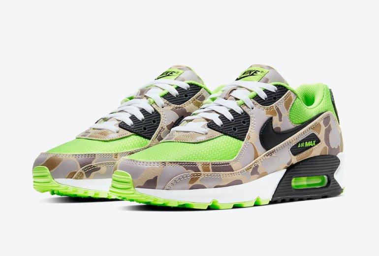 Nike-Air-Max-90-Ghost-Gren-Volt-Duck-Camo-CW4039-300-Release-Date-4