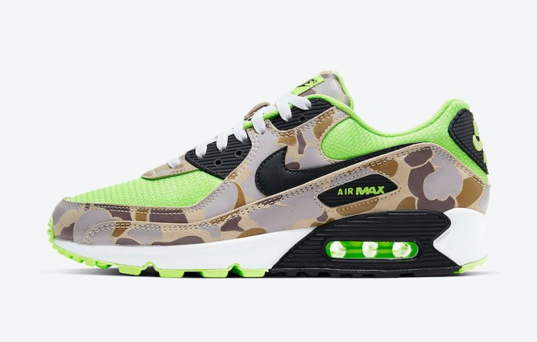 Nike-Air-Max-90-Ghost-Gren-Volt-Duck-Camo-CW4039-300-Release-Date